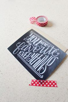 Greeting card You are my favorite everything by HowjoyfulShop