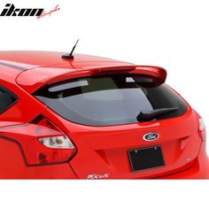 Fits 12-18 Ford Focus Hatchback ST OE Style Rear Roof Spoiler Wing Unpainted ABS Image 2 of 7