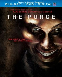 The Purge (Blu-ray + DVD + Digital Copy + UltraViolet, In an America wracked by crime and overcrowded prisons, the government has sanctioned an annual twelve-hour period in which any and all criminal activity, including murder, becomes legal. On that night, plagued by violence and criminal activity, one family wrestles with the decision of who they will become when a stranger comes knocking.