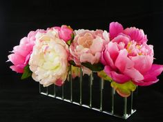 Faux Floral Arrangement-Peonies by RussellPriceFloral on Etsy