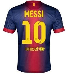 104206728 New Barcelona Home Shirt 2012 13 (Messi 10) Soccer Jersey Size M by