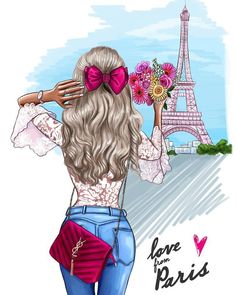 Ideas Home Drawing Sketches Artists Paris Kunst, Paris Art, Cute Disney Drawings, Girly Drawings, Cartoon Kunst, Cartoon Art, Fantasy Magic, Best Friend Drawings, Girly M