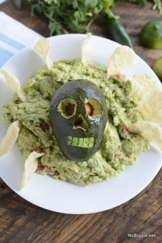 After all the candy and scary sweets, your guests might want some real food. Cue the guac. Get the recipe from No Biggie »