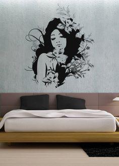Hawaiian Girl  uBer Decals Wall Decal Vinyl Decor от uBerDecals