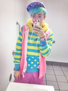 pop kei genderqueer fairy kei fairy boy daily outfit post genderqueer fashion
