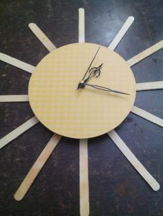 Make a working clock using waste material