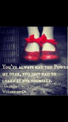 Wise words...favorite movie!!!
