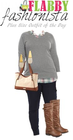 1c7b9d40484 Plus Size Outfit of the Day – Preppy Fall Curvy Outfits