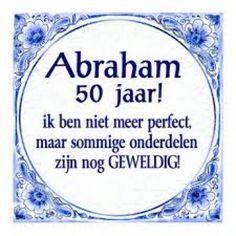 Delftsblauw Tegeltje Abraham