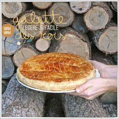 Galette des Rois légère où la compote de pommes remplace le beurre
