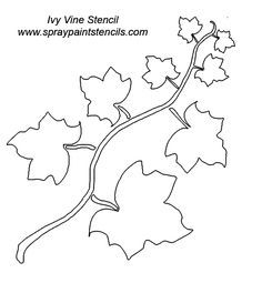 vines and ivy stencils to print Leaves Template Free Printable, Fall Leaf Template, Flower Template, Fall Arts And Crafts, Easy Fall Crafts, Vines, Vine Tattoos, Leaf Stencil, Fall Coloring Pages