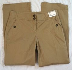New York & Company Mid Rise Straight Chino Womens Pants Size 8 NWT (P27#171) #NewYorkCompany #KhakisChinos