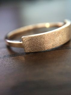 The Understated Plated Brushed Ring Matte Finish 14K Rose Gold by CutCarat