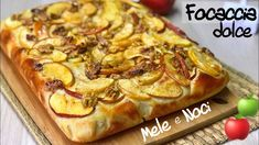BRIOCHE FOCACCIA DOLCE MELE E NOCI SOFFICISSIMA ricetta facile SWEET FOCACCIA APPLES AND WALNUTS - YouTube Vegetable Pizza, Apple, Sweet, Desserts, Pane Pizza, Youtube, Biscotti, Food, Sweets