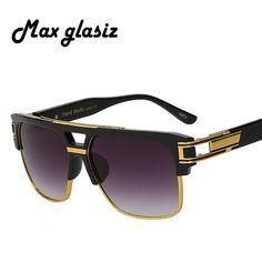 b5472d9f05 2017 New Fashion Square Sunglasses Men Brand Designer luxury Mens Sun  Glasses Frame Male Gafas Masculino
