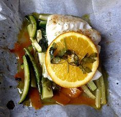 Healthy Fish Recipe - Baked Fish in Foil Recipe - Baked Fish Recipe - Cod in Foil Recipe - Cod Recipe
