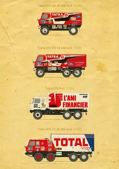 This project is a small celebration of TATRA's great success at the Paris-Dakar Rally since the Rally Raid, 4x4, Courses, Art Cars, Cars And Motorcycles, Range Rovers, Trucks, Planes, Engine
