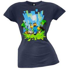 Minecraft - Womens Adventure Juniors T-shirt Large Dark Blue Old Glory http://www.amazon.com/gp/product/B00D7JPKMO/ref=as_li_qf_sp_asin_il_tl?ie=UTF8&camp=1789&creative=9325&creativeASIN=B00D7JPKMO&linkCode=as2&tag=acenorris09-20&linkId=RX3FD5Q2UKFPZUMQ