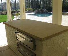 Sandstone counter top / kitchen and dinning table