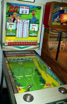 "1965 Par Golf ""Chicago Coin "" Pinball Machine Vintage Games, Vintage Music, Pinball Wizard, Penny Arcade, Vending Machine, Retro Toys, Arcade Games, Game Room, Board Games"
