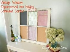 how to turn a vintage window into a holiday command center, chalkboard paint, christmas decorations, crafts, repurposing upcycling, seasonal holiday decor, wall decor