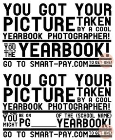 Great cards for photographers to give out as they photograph students - kinda like at Kings Island or Disney World - go there and order yours! Of course ours would be to the order center not Smart Pay...