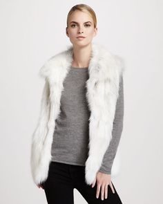 3f731cd356 Pologeorgis Stand-Collar Fox Fur Vest
