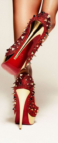 Color fashion Glam Louboutins....requires great guts to wear them....but them would absolutely worth the effort!