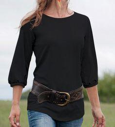 Black Core Knit Top.