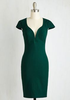 For a Good Cosmo Dress in Forest Green From the Plus Size Fashion Community at www.VintageandCurvy.com