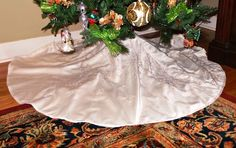Wedding Dress Tree Skirt with Tree