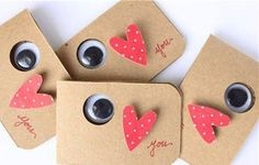 Eye Love You Card.  So simple and so perfect.  Your little one would have fun making these.