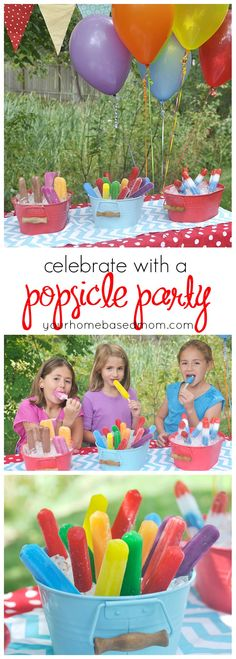A Popsicle party is the perfect way to celebrate being back in school!  So easy!  #ad  #PopsicleFunSweeps