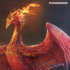 Phoenix Artwork, Phoenix Painting, Phoenix Drawing, Fantasy Dragon, Dragon Art, Mythical Creatures, Wild Creatures, Phoenix Mythology, Eagle Wallpaper