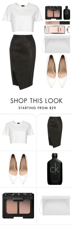 """""""Mandee"""" by aztec-rose ❤ liked on Polyvore featuring Topshop, Oasis, Zara, Calvin Klein, NARS Cosmetics and Chanel"""