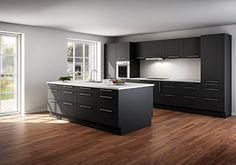 Billedresultat for sort køkken