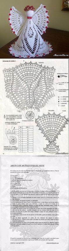 для дома Crochet Angel Pattern, Crochet Angels, Crochet Doily Patterns, Crochet Art, Crochet Motif, Crochet Doilies, Crochet Bookmarks, Crochet Ornaments, Crochet Snowflakes