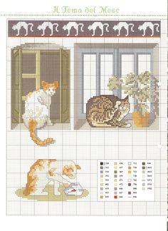 Io amo il mio gatto schema punto croce (5) Cat Cross Stitches, Cross Stitching, Cross Stitch Animals, Stitch 2, Neko, Fiber Art, Dog Cat, Kitty, Kids Rugs