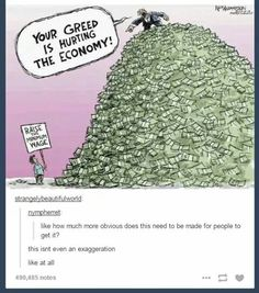 Like how much more obvious does this need to be made for people to get it? This isn't even an exaggeration like at all. Minimum Wage = Living Wage.