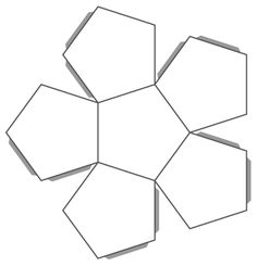 Dodecahedron Template Printable Here Are Printable Templates Cement Pots, Concrete Cement, Concrete Planters, Diy Craft Projects, Diy And Crafts, Paper Crafts, 3d Geometric Shapes, Diy Planter Box, Origami Paper Art