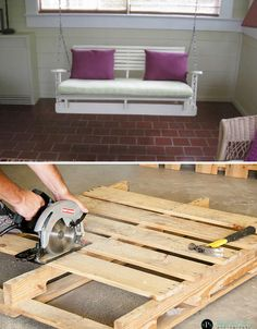 Porch Swing Pallet Projects! 15 More Reclaimed Furniture & Decor Ideas | WebEcoist