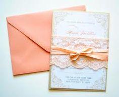 peach wedding invitations - Google Search