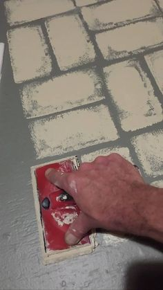 porch paint ideas Ideas Painted Brick Patio Floor For 2019 Painted Porch Floors, Painted Concrete Floors, Porch Flooring, Painting Concrete, Brick Flooring, Porch Paint, White Flooring, Garage Flooring, Farmhouse Flooring