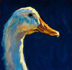 Cheri Christensen - Work Detail: Head up Farm Paintings, Impressionist Paintings, Animal Paintings, Animal Drawings, Art Canard, Duck Art, Farm Art, Feather Art, Wow Art