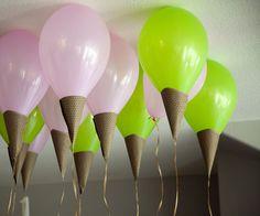 DIY ice cream cone balloons