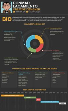infographic resume by ronmar lacamiento, via Behance