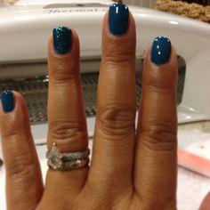 Love my new blue nails!  #gelish My Favorite Color and Oocha Coocha Bing Bang Bam-alakazy Alakazam #shellac