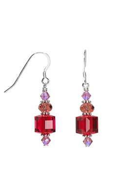Earrings with Swarovski Crystal Beads