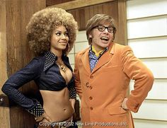 """In his third outing as Austin Powers, the 2002 comedy """"Austin Powers in Goldmember,"""" Myers starred opposite Beyonce Knowles as Foxxy Cleopatra. Beyonce Austin Powers, Beyonce And Jay Z, Beyonce Beyonce, Foxy Cleopatra, Cleopatra Costume, Austin Powers Goldmember, Foxy Brown, New Line Cinema, Beyonce Knowles"""