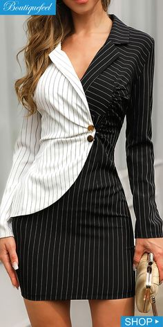 Shape Your Wardrobe / Women's Fashion Online Look Fashion, Girl Fashion, Fashion Outfits, Blazer Fashion, Skirt Outfits, Casual Outfits, How To Wear Blazers, Indian Designer Suits, Business Casual Attire